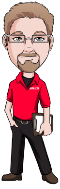 Cartoon Todd from Bill's Cooling, Bils Heating & Air Conditioning, 526 Garfield, Lincoln, NE 68502